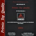 Prêmio Top Quality AGCO - 2003